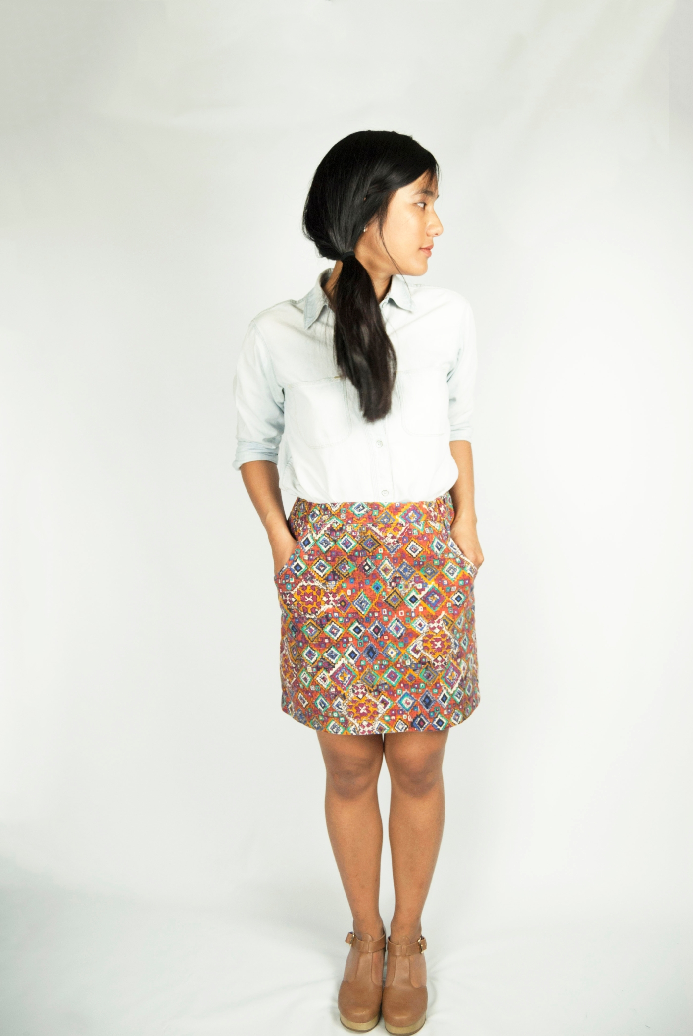 native skirt chambray top select-5b